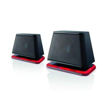 Тонколони Fujitsu DS E2000 Air, 2.0, 2.4W, 3.5мм жак, USB, черни, LED светлини image
