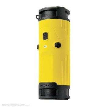 Тонколона Scosche BoomBOTTLE, 2.0, 6W (3W + 3W), Bluetooth 4.0, 3.5mm жак, жълта, IPX4 защита, 10 часа време за работа image