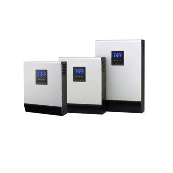 Инвертор Lever HOMIV-1K, хибриден синусоиден, 1000VA/800W, от 90–280 Vac към 230 Vac ± 5%, LCD дисплей image