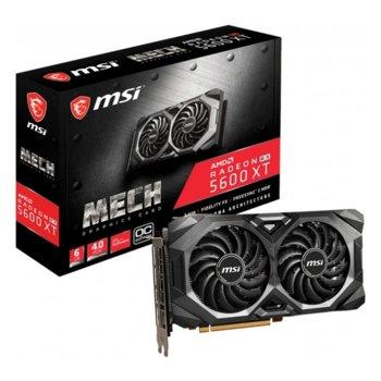 Видео карта AMD Radeon RX 5600 XT, 6GB, MSI MECH OC, PCI-E 4.0, GDDR6, 192bit, 3x DisplayPort, HDMI image
