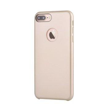 Калъф за Apple iPhone 7, страничен протектор с гръб, поликарбонат, Devia CEO, златист image