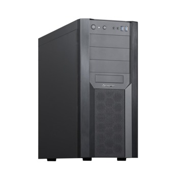 Кутия Chieftec Workstation Chassis CW-01B-OP, ATX/Micro ATX/Mini-ITX, 2x USB 3.1 Gen 1, черна, без захранване image