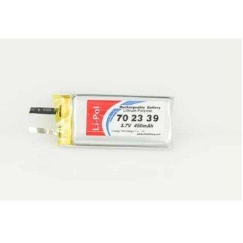 Литиева батерия LP702339, 3.7V, 450mAh, Li-polymer, 1бр. image