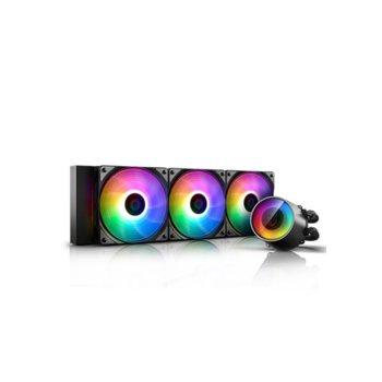 Водно охлаждане DeepCool CASTLE 360 RGB V2, съвместимост със Intel LGA2066/2011-v3/2011/1151/1150/1155/1366 & AMD TR4/AM4/AM3+/AM3/AM2+/AM2/FM2+/FM2/FM1 image