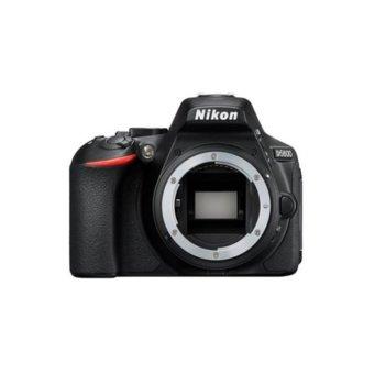 "Фотоапарат Nikon D5600 в комплект с Nikon AF-P 18-55mm VR + Nikon CS-P12, 24.2 Mpix, 3.2"" (8.13 cm) TFT сензорен дисплей, Wi-Fi/NFC, Bluetooth 4.1, SDXC слот, HDMI Type C, microUSB image"