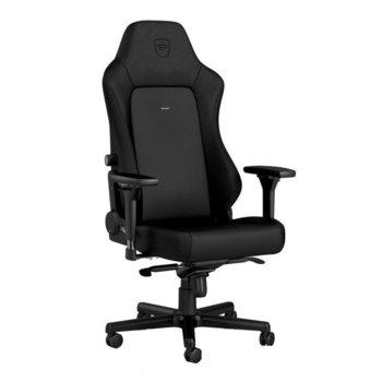 Геймърски стол noblechairs HERO Black Edition, хибридна еко кожа, алуминиева база, 4D подлакътници, до 150 кг, черен image
