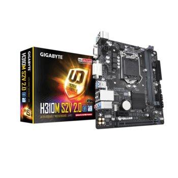 Дънна платка Gigabyte H310M S2V 2.0, H310, 1151, DDR4, PCI-E(D-Sub&DVI-D), 4x SATA 6Gb/sm, 4 x USB 3.1 Gen 1, Micro ATX image