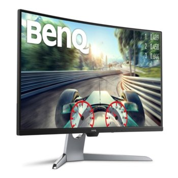 "Монитор BenQ EX3203R, 31.5"" (80.01 cm) VA панел, WQHD, 4ms, 20 000 000:1, 400cd/m2, HDMI, DisplayPort, Type-C image"