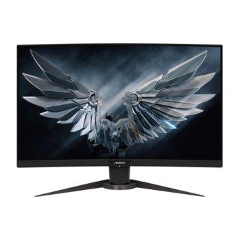 """Монитор Gigabyte AORUS CV27F-EK, 27"""" (68.58 cm)VA панел, 165Hz, Full HD, 1ms, 12000000:1, 400cd/m2, DisplayPort, HDMI, AUX, USB 3.0 image"""