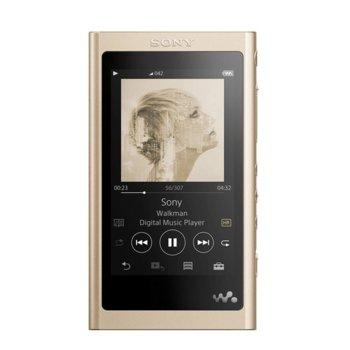 "MP3 плейър Sony NW-A55L, 16GB, 3.1"" (7.8 cm) WVGA дисплей, златист image"
