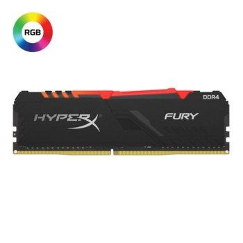 Памет 8GB DDR4, 3000Mhz, Kingston HyperX Fury RGB, HX430C15FB3A/8, 1.35 V image