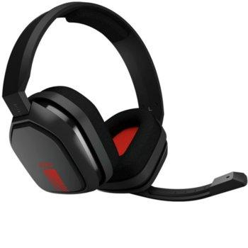 Слушалки Astro A10 Gen 1 (939-001530), микрофон, геймърски, сиво/червени image