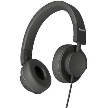 Слушалки Audictus Dreamer Black AWH-0961, AUX, наушници от еко кожа, контролер на звука, черни image