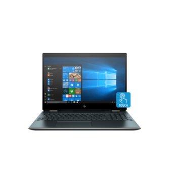 """Лаптоп HP Spectre x360 15-df1049na (10B13EA_2SR85AA)(син) с подарък докинг станция HP, четириядрен Comet Lake Intel Core i7-10510U 1.8/4.9 GHz, 15.6"""" (39.62 cm) Ultra HD/4k Touchscreen Display & GF MX250 2GB, (HDMI), 16GB DDR4, 512GB SSD, Windows 10  image"""