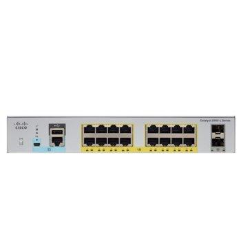 Суич Cisco Catalyst 2960L, 16x10/100/1000Base-T, 16x POE, 2xSFP image
