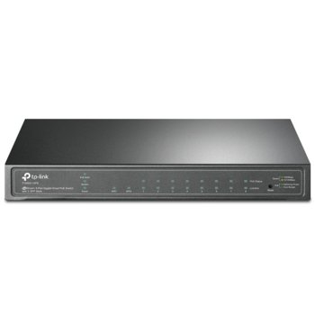 Суич TP-Link JetStream T1500G-10PS, 1000Mbps, 8x LAN1000(PoE), 2x SFP Ports image