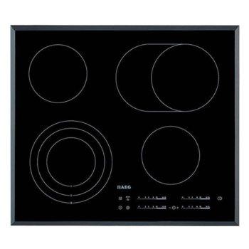 Стъклокерамичен плот за вграждане AEG HK 654070 FB, 4 нагревателни зони, сензорно управление, заключване, черен image