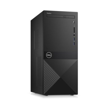 Настолен компютър Dell Vostro 3671 MT (N112VD3671EMEA01_R2005_22NM_UBU), шестядрен Coffee Lake Intel Core i5-9400 2.9/4.1 GHz, 8GB DDR4, 256GB SSD, 2x USB 3.1 Gen 1, клавиатура и мишка, Linux image