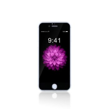 Протектор от закалено стъкло /Tempered Glass/ за iPhone 6 Plus, 5D, 0.15mm, Черен image