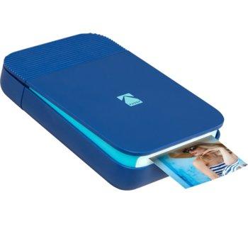 Мобилен принтер Kodak Smile Printer blue RODSMMPB, цветен термичен фотопринтер, A2 формат, Bluetooth, micro USB, син image