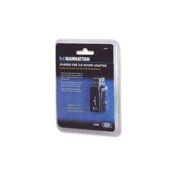 MANHATTAN 150859, Hi-Speed USB 3-D Sound Adapter image