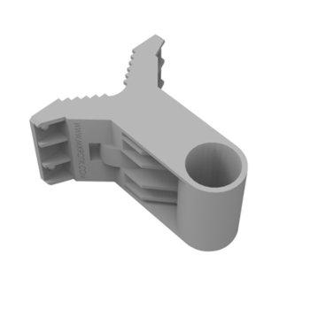 Стойка за стенен монтаж MikroTik QuickMOUNT RTB-QM, 96х107.5х56 мм, до 1.5 кг, за външен монтаж, сив image