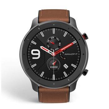 """Смарт часовник Xiaomi Amazfit GTR 47mm - Aluminium Alloy, 1.39"""" (3.53 cm) AMOLED Gorilla Glass 3, до 24 дни живот на батерията, IP68, 6-осен сензор за ускорение, черен image"""