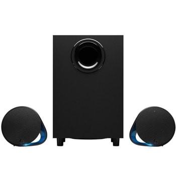 Тонколони Logitech G560, 2.1, 120W, Bluetooth, 3.5mm жак, USB, черни, RGB подсветка image