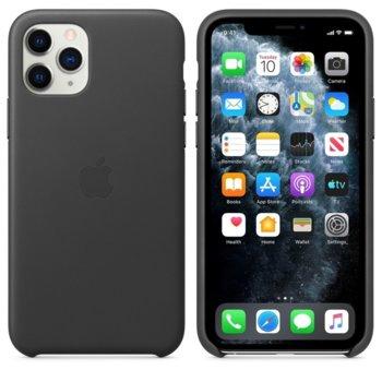 Калъф за Apple iPhone 11 Pro, естествена кожа, Apple Leather Case MWYE2ZM/A, черен image