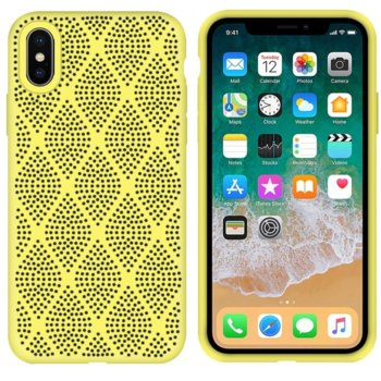 Силиконов гръб Apple iPhone XS Max Жълт Grid product