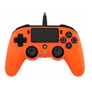 Геймпад Nacon Wired Compact Controller, жичен, Windows/PS4, USB, жак за слушалки, оранжев image