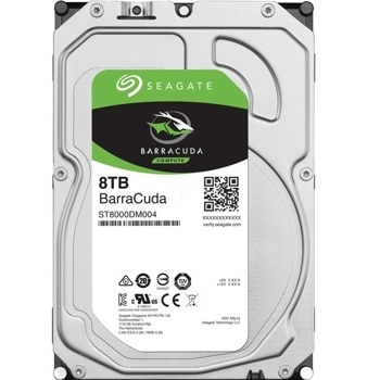 "Твърд диск 8TB Seagate BarraCuda ST8000DM004, SATA 6Gb/s, 5400rpm, 256MB кеш, 3.5"" (8.89cm) image"