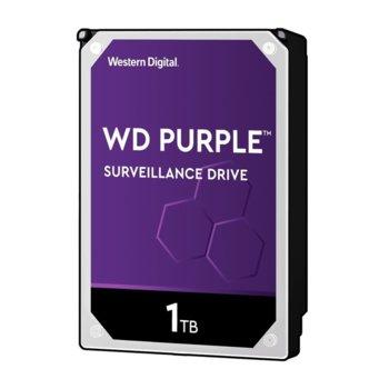 "Твърд диск 1TB WD Purple WD10PURZ, SATA 6Gb/s, 5400rpm, 64MB, 3.5""(8.89 cm) image"
