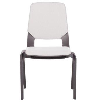 Посетителски стол Carmen Limber, полипропилен, до 130кг, бял image