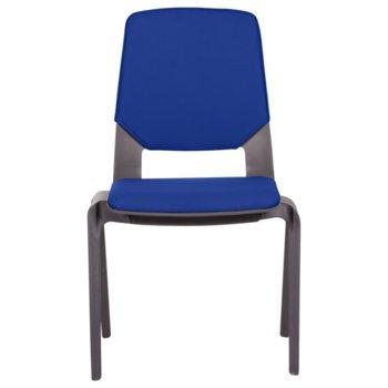 Посетителски стол Carmen Limber, полипропилен, до 130кг, син image