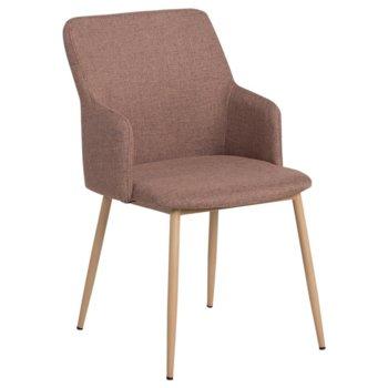 Трапезен стол Carmen 512, дамаска, кафяв image