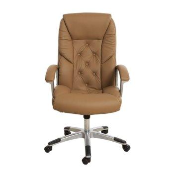 Директорски стол Oscar, екокожа, кафяв product