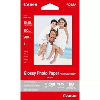 Фотохартия Canon GP-501, 10x15 cm, гланцирана, 210 g/m2, 100 листа image