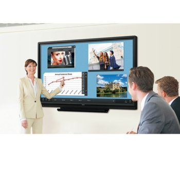 "Интерактивен дисплей SHARP PN70TW3, 70""(177.8 cm), Infrared Multi Touch, Full HD, VGA, HDMI, DisplayPort, USB, RS232, LAN, черен image"