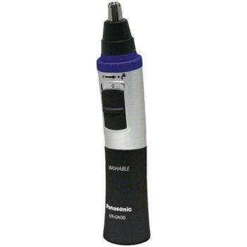 Тример Panasonic ER-GN30K503, тример за носа и уши, работа на батерия тип AА, време за бръснене 90 минути, черен image