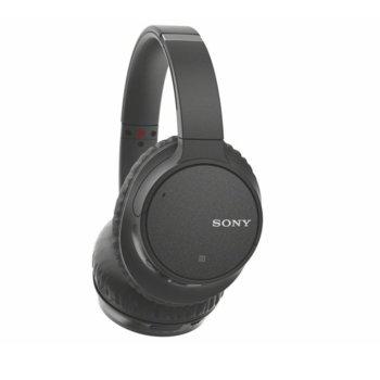 Слушалки Sony WH-CH700N, Bluetooth, микрофон, Noise Cancelling, Google/Siri voice assistant, черни image