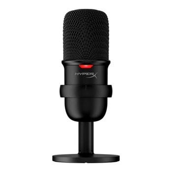 Микрофон Kingston HyperX SoloCast (HMIS1X-XX-BK/G), 2m кабел, USB, черен image