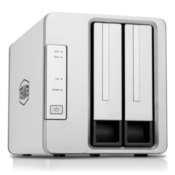Мрежови диск (NAS) TerraMaster F2-210, четириядрен Realtek RTD1296 1.4 GHz, без твърд диск, 1GB, 1x 1GbE port, 2x USB 3.0 image
