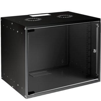 Комуникационен шкаф MIRSAN SOHO, 535 x 400 x 572 мм, D=400 мм / 12U, черен, за стена image