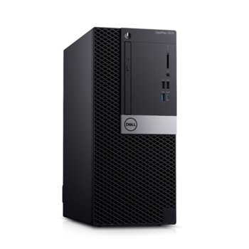 Настолен компютър Dell OptiPlex 7070 MT (N012O7070MT_UBU), осемядрен Coffee Lake Intel Core i9-9900 3.1/5.0 GHz, 32GB DDR4, 512GB SSD, 5x USB 3.1, клавиатура и мишка, Linux image