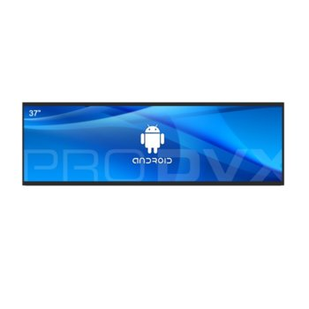 "All in One компютър ProDVX APPC-37UW, четириядрен Cortex A17 1.6 GHz, 37"" (93.98 cm) Full HD (1920x540) LED Display & MALI T764, 2GB DDR3, 16GB Flash ROM, USB 2.0, Android 6.0 image"