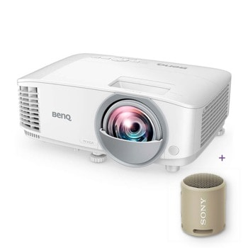 Проектор BenQ MW809STH с подарък тонколона Sony SRS-XB13 (кафява), DLP, WXGA (1280x800), 12 000:1, 3600 lm, 2x HDMI, LAN, USB (Type Mini B), RS232 image