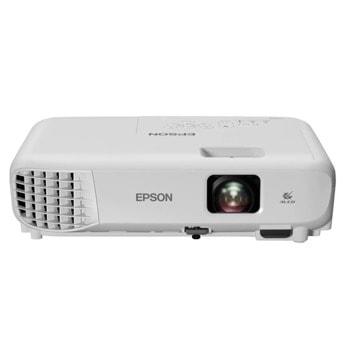 Проектор Epson EB-E01, 3LCD, 1024 x 768 (XGA), 15 000:1, 3300 lm, HDMI, VGA, USB  image