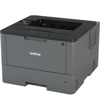 Лазерен принтер Brother HL-L5000D, монохромен, 1200x1200 dpi, 40стр/мин, двустранен печат, USB, A4, 2+1 г. image