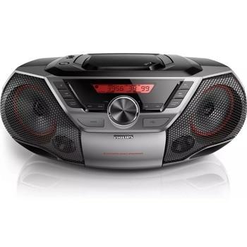 Аудио система Philips AZ700T, FM, 3.5mm jack, USB, черен image
